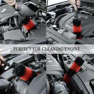 Image 5 - 2PCS Car Wheel Brush 17Inch Long Easy Reach Tire Rim Detailing Brush Multifunction for Car Truck Motor Bicycle Cleaning Tool
