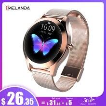 IP68防水スマート腕時計女性素敵なブレスレット心拍数モニター睡眠監視スマートウォッチを接続し、iosアンドロイドKW10バンド