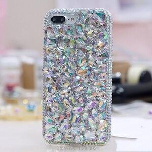 Image 5 - Luxury DIY Diamond Ruby Bling Funda Cases for Samsung Galaxy A50 A70 A10 A20E A40 A51 A71 A90 5G A31 A41 A30S A21S A01 Fundas