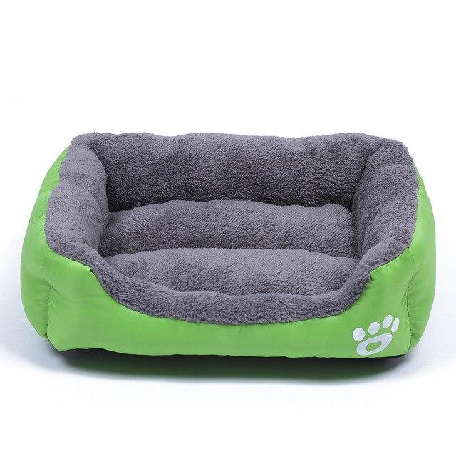 Pluche Comfort hondebed - kleur groen 1