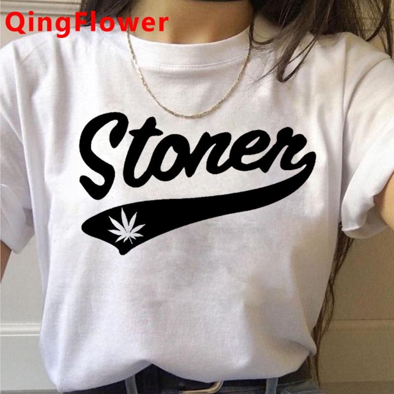 Bong Weed tshirt clothes women print harajuku streetwear clothes harajuku kawaii white t shirt 5