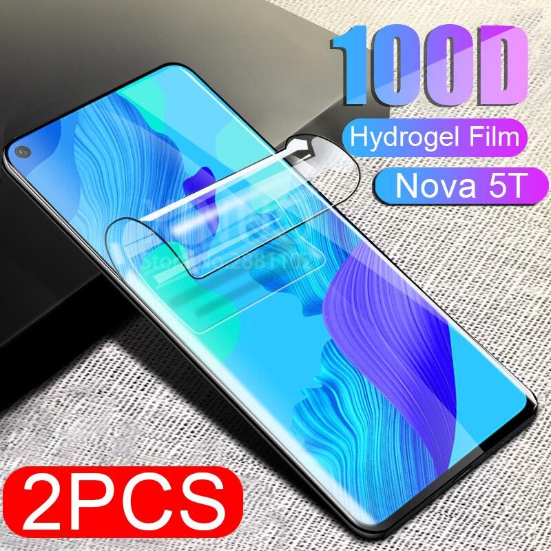 2 Pcs screen protector film for huawei Nova 5T Tempered glass for huawei Nova 5T 5 T T5 huwei Nova 5T Hydrogel protective film