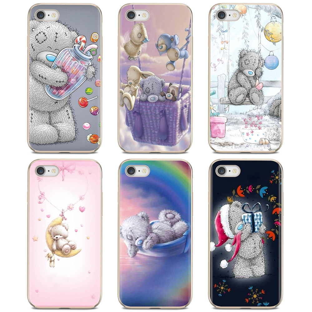 Buy Silicone Phone Case For iPhone 11 Pro 4 4S 5 5S SE 5C 6 6S 7 8 X 10 XR XS Plus Max For iPod Touch Tatty Teddy Me To You Bear(China)