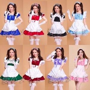 Image 1 - Cafe Restaurant Maid Wear Waiter Professional Uniform Short Skirt Anime Servant Cosplay Costume Sweet lolita Clothes