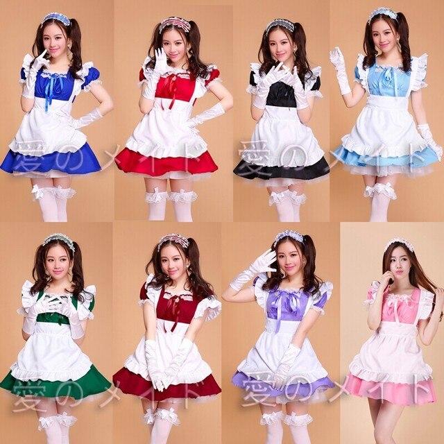 Cafe Restaurant Maid Wear Waiter Professional Uniform Short Skirt Anime Servant Cosplay Costume Sweet lolita Clothes