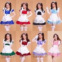 Cafe Ristorante Cameriera Cameriere di Usura Professionale Uniforme Gonna Corta Anime Servo Cosplay Costume Dolce lolita Vestiti
