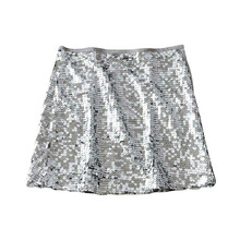 Mini Skirt Women Sexy Sequin 2019 Side Zipper A Line Party Club Street Wear Female Skirts Chic Stylish Shiny Sequined