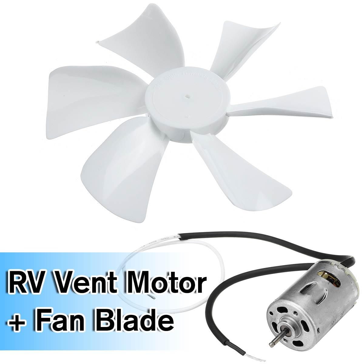 NEW 1SET 12V RV Energy-saving Motorhome Roof Vent Ventilation Cooling Exhaust Fan +Motor Noiseless For Travel Motor Homes