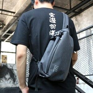 Torba na ubrania dla mężczyzn jedno ramię torba na klatkę piersiowa mężczyzna Messenger chłopcy tornister na studia dla nastoletnich podróży na co dzień czarny