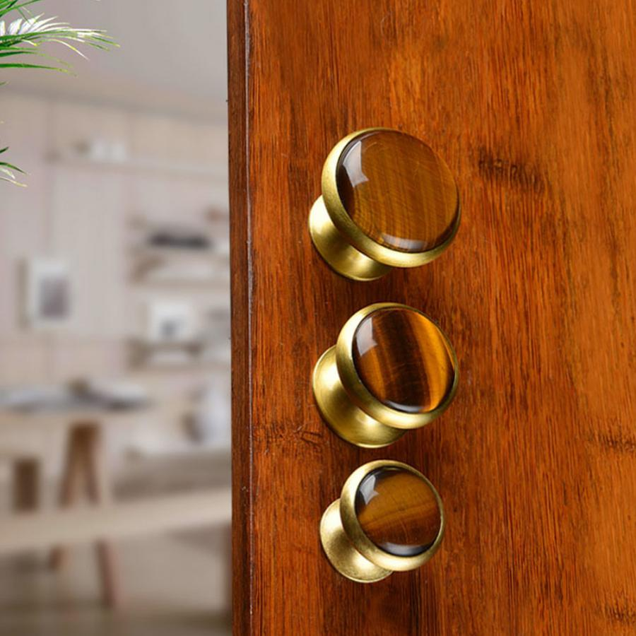 kitchen cabinet handles Drawer Pull Brass Single Hole Round Cabinet Knob Handle Furniture Hardware Accessories furniture knob