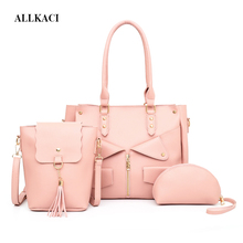 купить 3 PCS Women Bags Set Leather Ladies Handbags New Women Tote Bag Handbag Shoulder Bag for Women 2018 Luxury Messenger Bag Bolsa56 по цене 1937 рублей