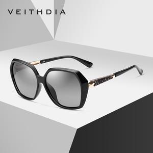 Image 5 - VEITHDIA TR90 kadın güneş gözlüğü polarize degrade Lens lüks bayan tasarımcı güneş gözlüğü gözlük kadınlar için 3161