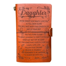 2021 New Leather Sketch Book Handmade Journal Notebook Diary Hand Account to My Daughter