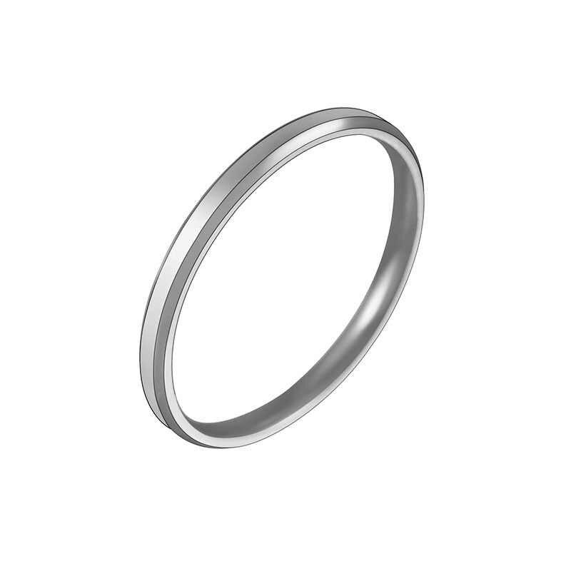 Novo 2mm ouro rosa anéis de aço inoxidável para as mulheres simples anéis de ouro jóias anel de noivado moda anel de promessa de casamento