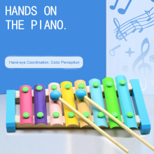 Музыкальный инструмент, игрушка, деревянный ксилофон, детские развивающие игрушки, развивающие игрушки для детей, развивающие игрушки, подарки для детей