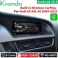 Krando-reproductor multimedia con Android 10,0 y navegación GPS para Audi, autorradio para coche Audi A4 A4L A5 8,8-2009, 2015
