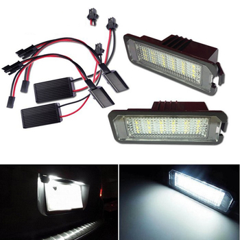 2x Auto Light MK5 MK6 MK7 Golf 5 Glof 6 Golf 7 Xenon White Led Number License Plate Light Kit Canbus Error Free Car-Styling image