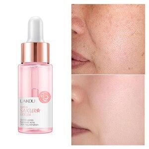 15ml Sakura Face Serum Shrink Pores Remove Acne Liquid Moisturizing Face Brighten Lift Firming Skin Care Skin Serum TSLM2