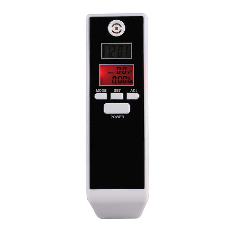 LCD Digital Breathalyzer Alcohol Tester Professional Breath Parking Detector Gadget with Backlight Driving Essentials PFT-661S
