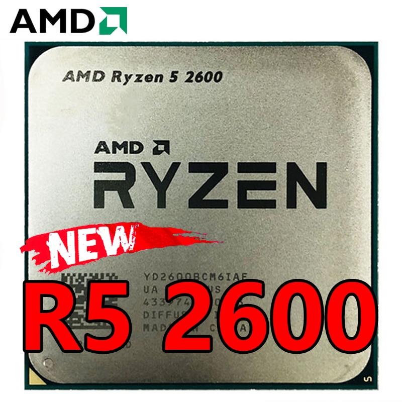 Процессор AMD Ryzen 5 2600 для ПК, центральный процессор для компьютера, 6 ядер, 12 ядер, 2600 ГГц, 65 Вт, разъем AM4, YD2600BBM6IAF
