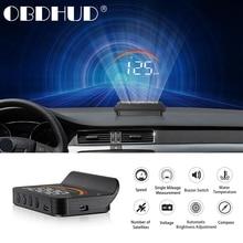 Universele M11 OBD2 Hud Head Up Display Auto Gps Snelheidsmeter Rpm Water Temp Voorruit Projector Beveiliging Automatische Alarm