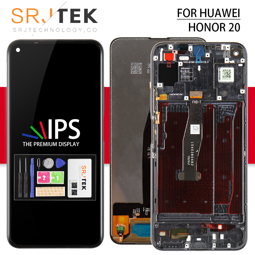 Srjtek For Nova 5Z LCD For Nova 5Z Glass Touch Panel Sensor For Huawei Nova 5Z Display Screen With Frame Glass Replacement Parts