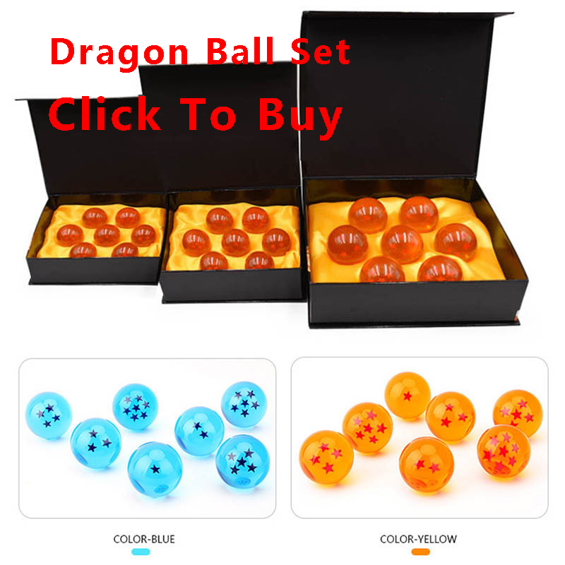 10 <font><b>sets</b></font>/lot 4.2 CM Dragon Ball Z Toys Crystal Balls 7pcs/box <font><b>Dragonball</b></font> Goku <font><b>Figure</b></font> <font><b>set</b></font> shipping by DHL/Fedex image