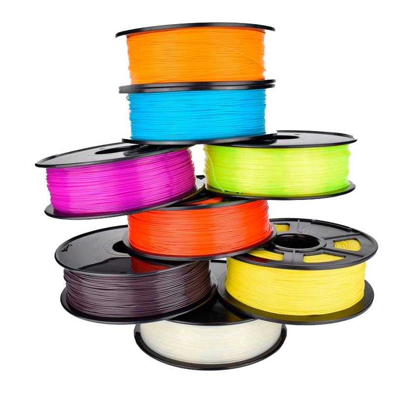 Good Quality DIY 3D Printer Filament 9 colors Optional PLA 1.75mm Plastic Rubber Consumables Material 1KG Hotsale