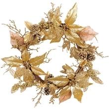 Wreaths-Decorations Front-Door Garland-Ornament Merry-Christmas Xmas Home-Decor Artificial
