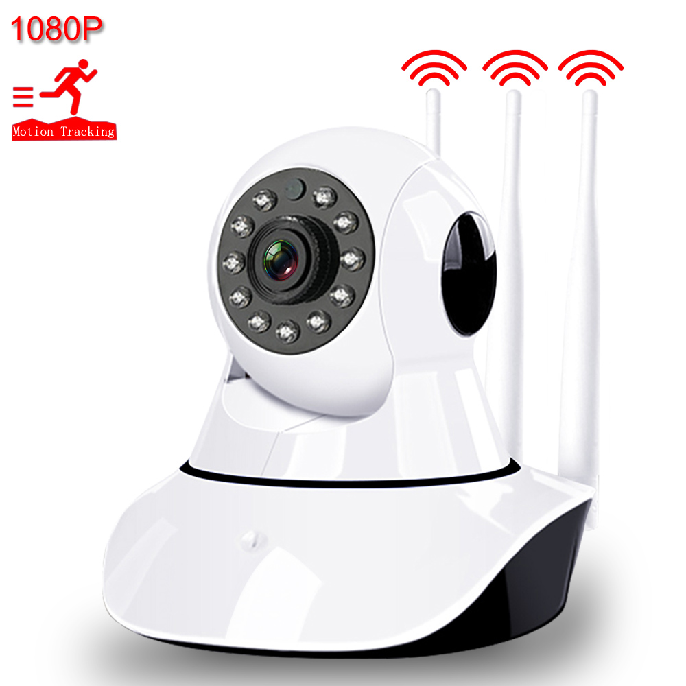 Câmera IP WiFi 1080P HD Câmera de Segurança Em Casa 3 Aumento Do Sinal da Antena Sem Fio Áudio Bidirecional Night Vision Inteligente câmera de CCTV