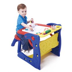 Crayola Dual Purpose Easel CHILDREN'S Drawing Board Dual Purpose Writing Board Painted Tables And Chairs Kindergarten natural de
