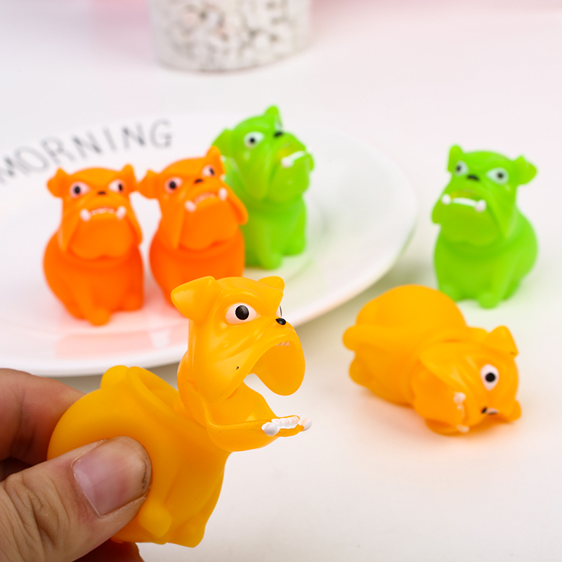 1pc Novelty Creative Spoof Fun Decompression Vent Toy Pinch Le Dog Children Birthday Gift Prizes