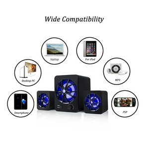 Image 5 - Wired Speaker LED LED Colorful Bass Stereo Player Subwoofer Computer Speakers Atmosphere Light Bass Stereo Player For Laptop PC