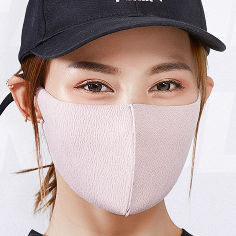 3 Colors Unisex Winter Double Layer Cotton Mouth Mask Washable Anti Dust Germs Allergies Smoke Pollution Ash 3D Respirator