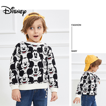 Disney 2019 Fashion Children's Jacquard Sweater Baby and Winter Coat New Boy's Thickened Sweate Kids Sweaters Boys Sweaters New