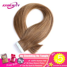 Addbeauty Tape In Hair 613 Blonde Light Brown Natural Black Straight Remy Human Extensions 2g/stand 20pcs/pack Skin Weft