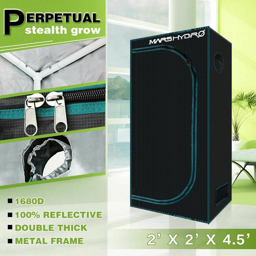 MarsHydro 1680D 60x60x140cm Grow Tent Diamond Reflective Mylar, Indoor Hydroponics Grow Tent (24''x24''x55'')