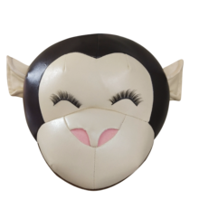 2021 Monkey Wall Decoration Creative Children Room Bed Stuffed Animal Zoo Bird New Gift High quality Cheap Safe PU leather Toys