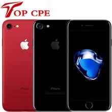 Разблокированный Apple iPhone 7 iphone7 4 аппарат не привязан к оператору сотовой связи 32GB/128GB/256 ГБ 12.0MP камера Quad-Core отпечатков пальцев 12MP 1960mA/мобильны...