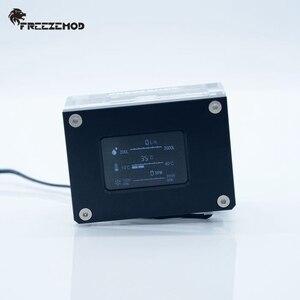 Image 2 - FREEZEMOD pc مبرد مياه 2019 جديد ذكي الكمبيوتر تدفق سرعة LCD كشف درجة الحرارة مبرد مياه تدفق متر. LSJ ZN