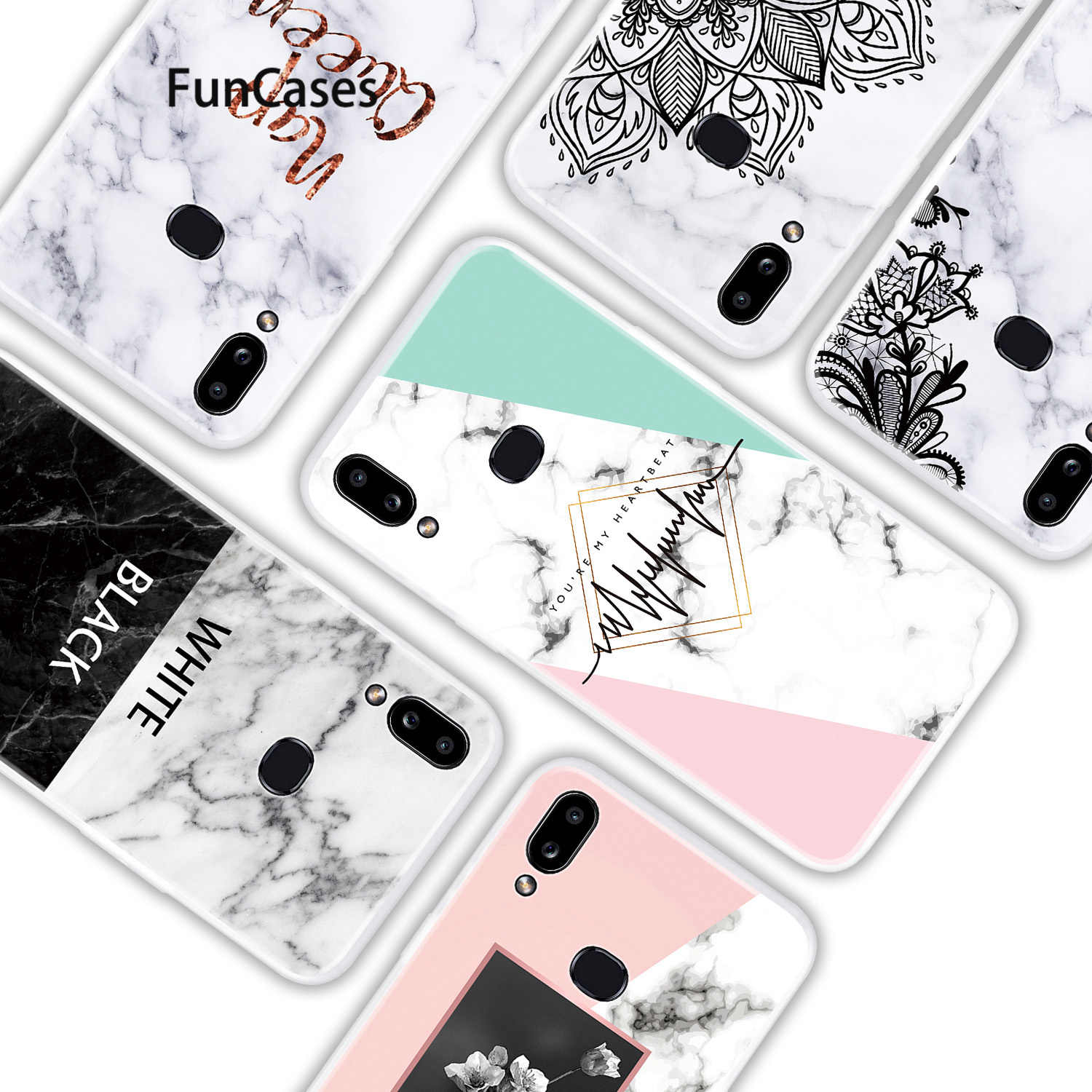 Lace Soft TPU Protector Case For Samsung A10 Cell Phone Covers Samsung Galaxy etui M10 A10S A50 A01 A11 A60 A50S A51 Caso bag