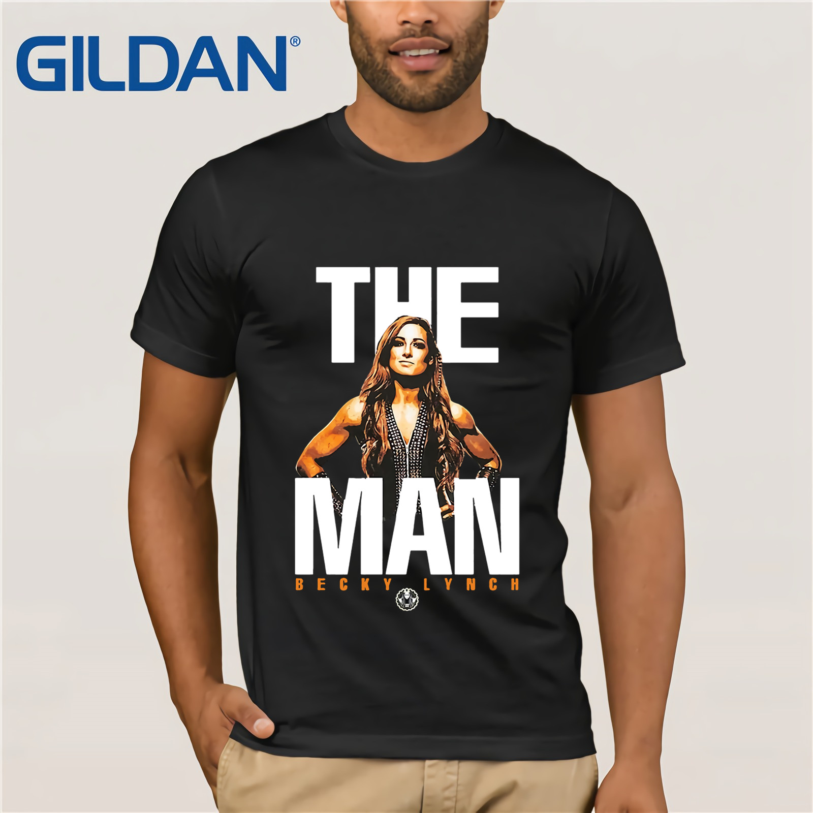 Mineral Wash The Man Becky Lynch 2019 Summer Men's Short Sleeve T-Shirt