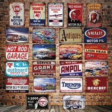 [ DecorMan ] RPM Motor oil HOT ROD Ampol Garage Wall Plaque Custom wholesale Metal Paintings Bar Room Gift Decor LT-1885