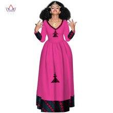 Dashiki africano vestidos de baile para as mulheres 2021 elegante estilo áfrica manga cheia abaya v-neck etiópia longa noite roupas wy2998