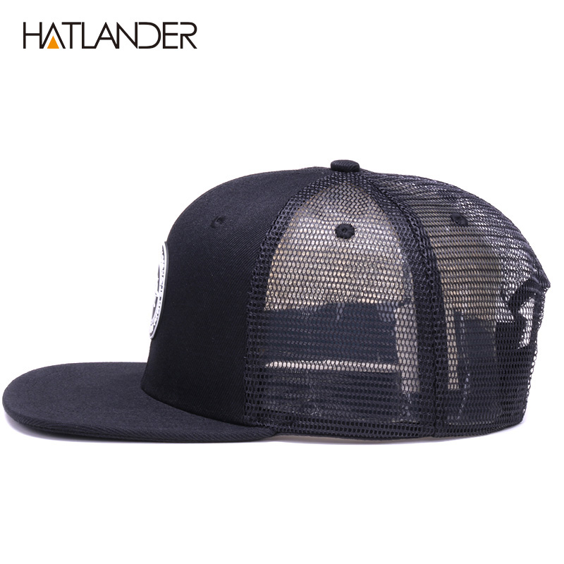 H636bc9f958174faf940fc0e1ce6e6f8dF - HATLANDER Original Baseball caps for men women black snapback cap high quality cool hip hop cap 6panels bone mesh truck cap hat