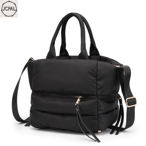 Image 3 - 2018 New Winter Space Bale Handbag Woman Casual Space Cotton Totes Bag Down Feather Padded Lady Shoulder Crossbody Bag