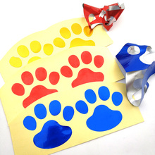 цена на 1 Reflective stickers animal footprints applique for car and motorcycle computer refrigerator scooter electric car tuk tuk
