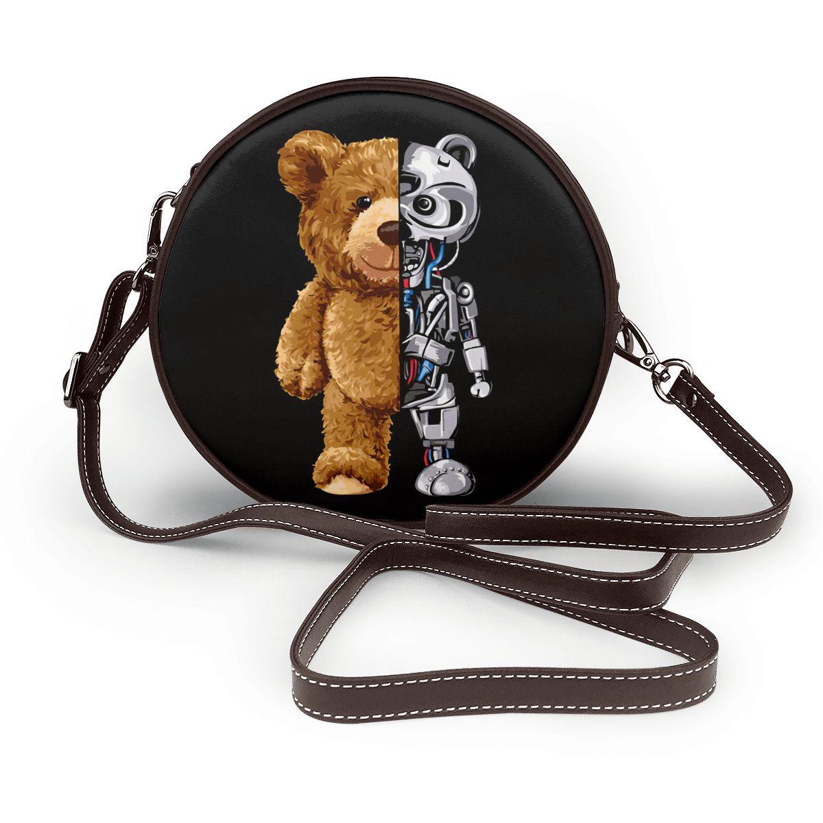 Fashion Cute Mini Round Crossbody Bags for Girls Luxury Designer Women Leather Shoulder Cross Body Bag Ladies Handbag Purse