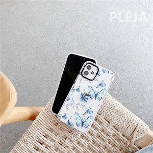 Image 4 - Cute Butterfly Printed Phone Case For iphone 12 mini 11 Pro Max Cartoon Silicone Cover For iphone XS Max SE 2020 XR X X 8 7 plus
