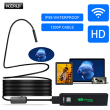 KERUI WIFI Endoscope Camera HD 1200P 8mm Waterproof Soft/Hard Cable Inspection Mini Camera For IOS Android Windows Endoscope kerui wifi endoscope camera hd 1200p 8mm waterproof soft hard cable inspection mini camera for ios android windows endoscope
